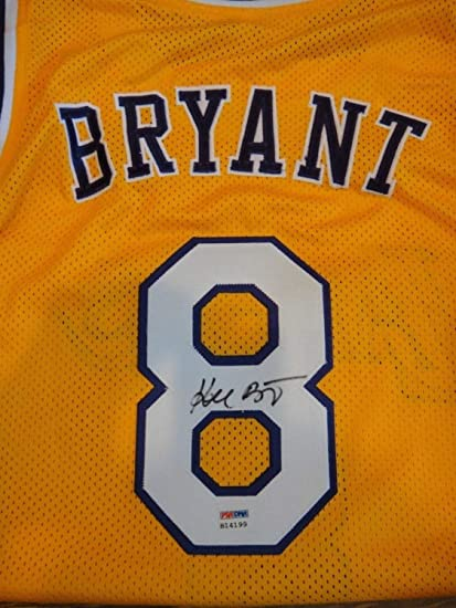 0738c449b54 Kobe Bryant Autographed Signed Memorabilia PSA/DNA Certified Los Angeles  Lakers #8 Home Jersey Autograph at Amazon's Sports Collectibles Store