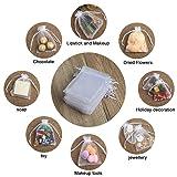 Hopttreely Premium White Organza Bags, 10X12CM