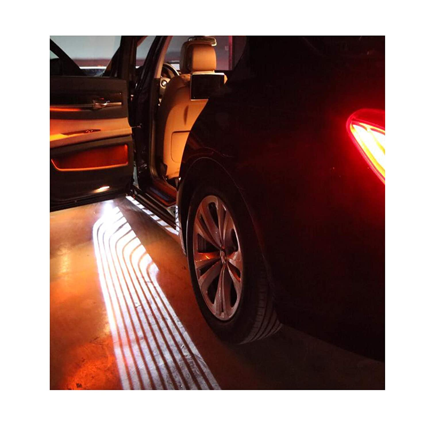 2 pcs Universal Car Projection LED Projector Door Shadow Light Welcome Light Laser angel wings Lamps Kit
