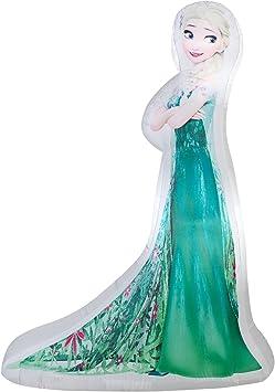 Amazon.com: Gemmy airblown hinchable Photorealistic Elsa en ...