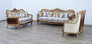 European Furniture 3 Pieces Maggiolini Luxury Sofa Set