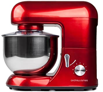 Andrew James Electric Food Stand Mixer In Stunning Red Includes