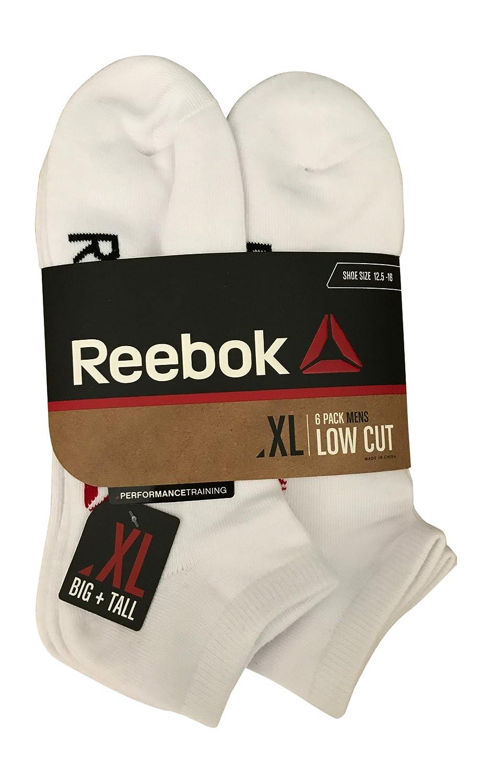 Reebok 6 Pack Mens Low Cut Performance Training Socks