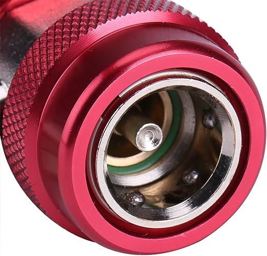 R134/A//C basse//haute connecteur rapide de climatisation Joint adaptateur connecteur Extracteur Valve Core Collecteur Jauge de faible haute c/ôt/é adaptateur Red