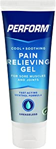 Perform Cooling Pain Relief Gel For Muscle Soreness, Post-Workout Aches, Joint Pain, Arthritis, and Back Pain, Non-NSAID Pain Reliever for Cold Therapy, Cryotherapy Topical Analgesic, 4 oz. Tube