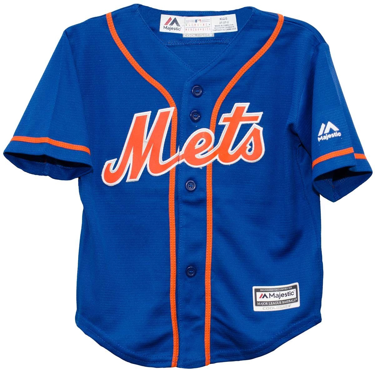 reputable site 64def 5bade Majestic New York Mets Alternate Blue Cool Base Toddler Size Jerseys