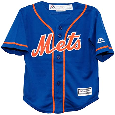 5f9ae4bf Majestic New York Mets Alternate Blue Cool Base Toddler Size Jerseys (2T)