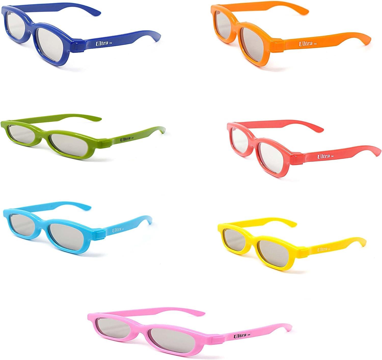 Paquete de Arcoiris Gafas 3D Pasivo para Niños para Uso con todas ...
