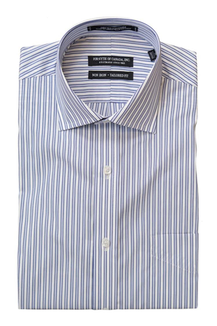 Forsyth of Canada Kensington Striped Tailored Fit Dress Shirt 16x32-33