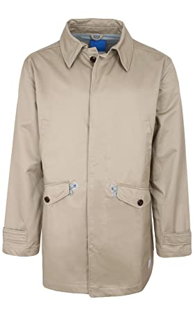 4a192aee58d1 adidas Originals Mens Mac Trench Coat - Beige - X-Small  Amazon.co ...