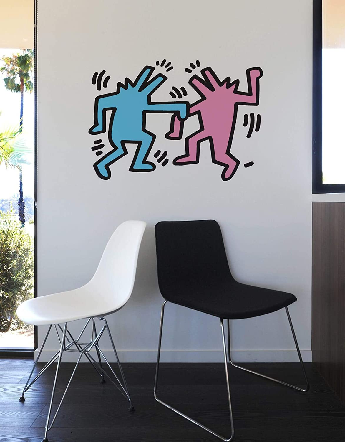 Amazon Blik Keith Haring Wall Sticker Dancing Dog キース