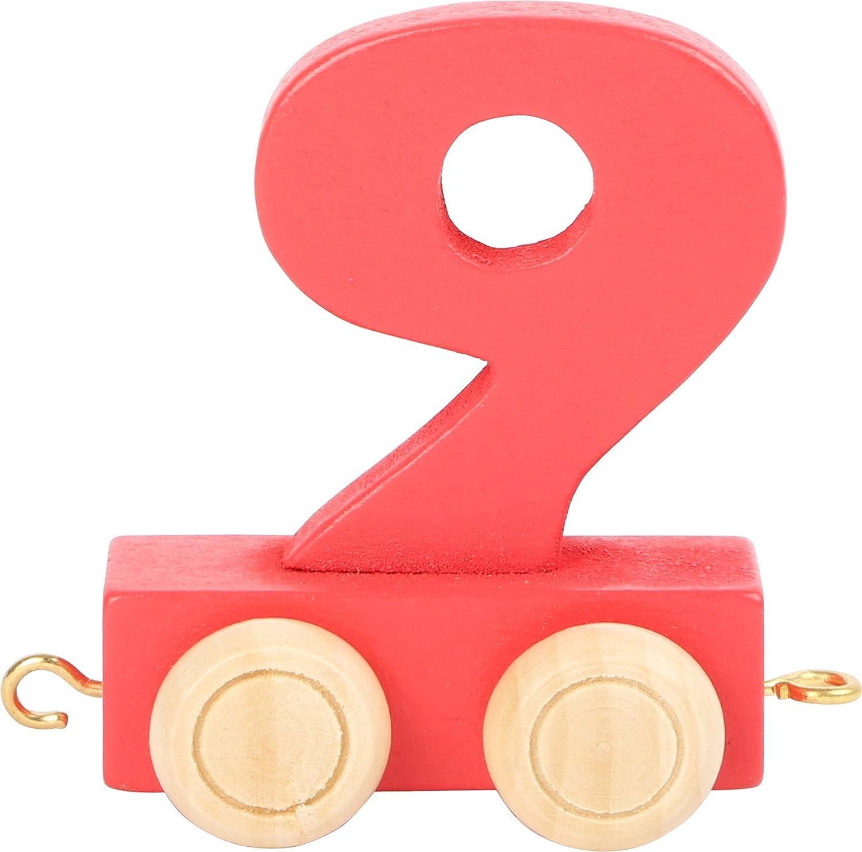 Geburtstag oder als Deko f/ür den Geburtstagstisch Geburtstags Zahlen und Waggon mit Kerzenhalter Zahl 0 Buchstabenzug personalisierbar Holzeisenbahn EbyReo/® Namenszug aus Holz