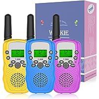 Walkie Talkie para Niños, NATRKE Walkie Talkie Niños 8 Canales LCD Pantalla con Linterna y Función VOX Bloqueo de…