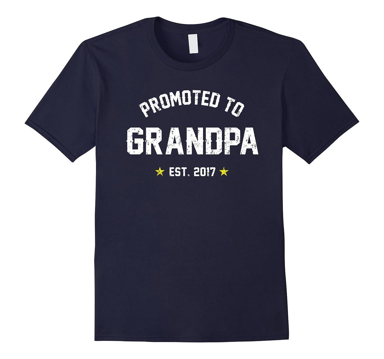 Men's Promoted To Grandpa Shirt: Gift For New Grandpa Est. 2017-azvn