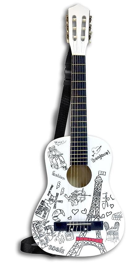 Bontempi - Guitarra clásica de Madera, París, 85 cm (Spanish Business Option Tradding 23 8511): Amazon.es: Juguetes y juegos