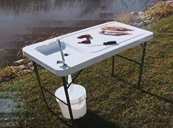 Camping Table with Sink 115x60 cm High Table for Camping Kitchen ...