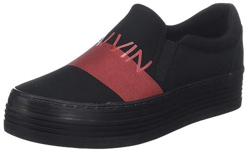 Calvin Klein Zelma Nylon/Metal Film, Zapatillas para Mujer: Amazon.es: Zapatos y complementos