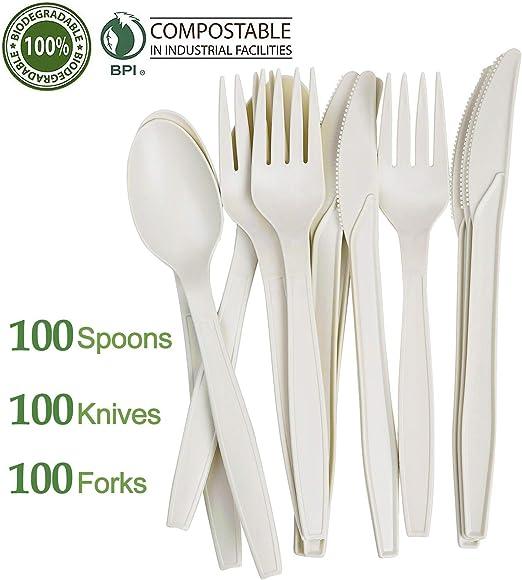 24 Pack Lime Green Heavy Duty Plastic Cutlery Assort