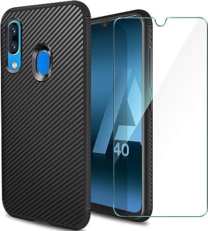 ivencase Funda Samsung Galaxy A40 Silicona & Protector Pantalla ...