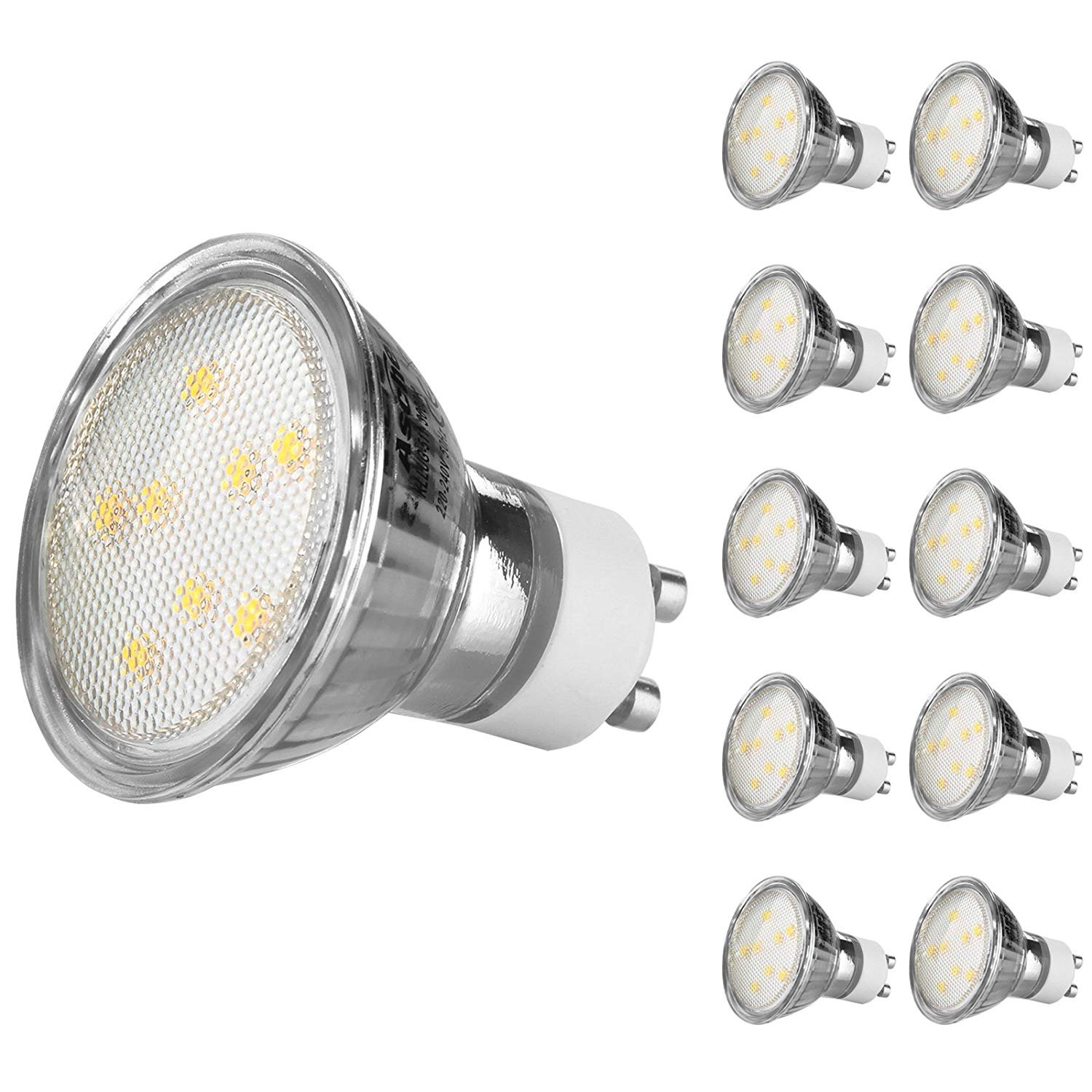 Gu10 4W Led Light Bulbs [Non Dimmable,Equivalent To 50W Halogen