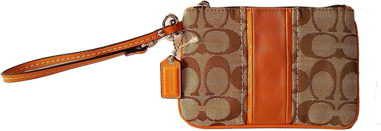 Orange Tangerine Crush Tie Dye PouchClutch with Genuine Leather Corners