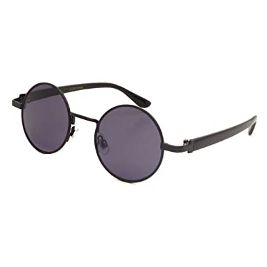 d67d00dc82 Image Unavailable. Image not available for. Color  JOHN LENNON 1960 Style  Vintage Small Round Metal Frame Sunglasses BLACK