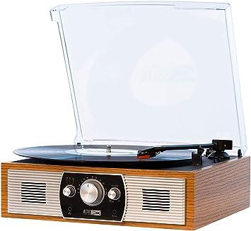 Altec Lansing Belt-Drive - Tocadiscos estéreo con Bluetooth, Radio ...