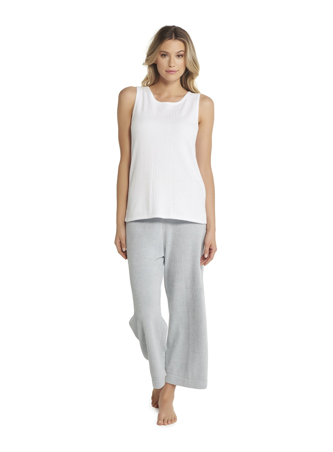 Barefoot Dreams CozyChic Ultra Lite Sleeveless Boat Neck Tee, Sea Salt, X-Small by Barefoot Dreams
