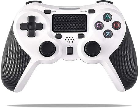 COOLEAD Mando para Playstation4, Controlador Inalámbrico Bluetooth para Playstation4 Doble Choque 4 con Panel Táctil Vibración Dual Compatible con PlayStation4 y PC(Blanco): Amazon.es: Electrónica