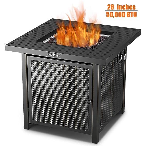 Amazon.com: TACKLIFE Mesa de incendio, 28 pulgadas 50.000 ...