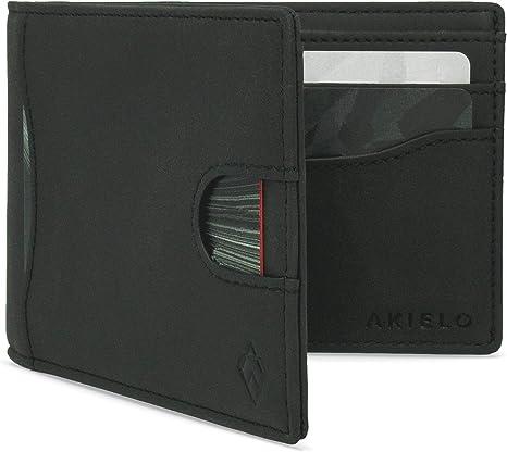 Men/'s Genuine Leather Card Holder Tan Gift Box Ultra Slim Soft /& Stylish New