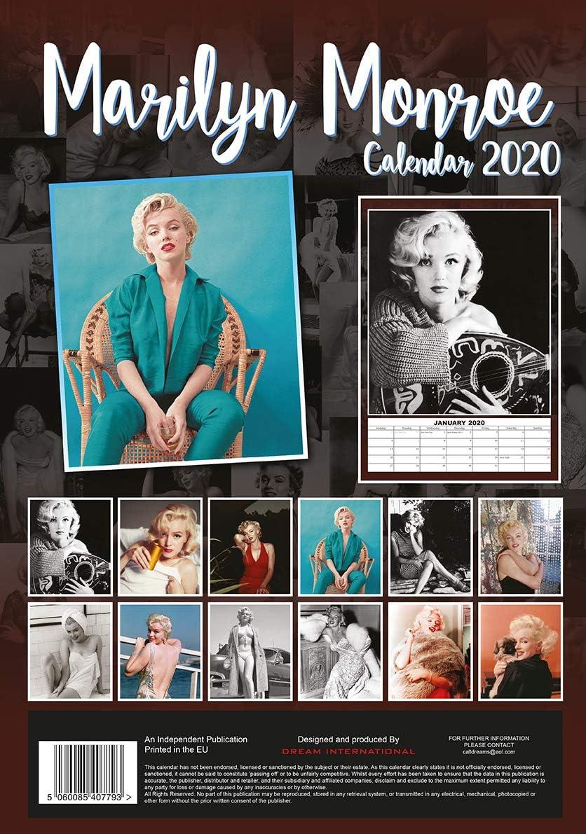 Marilyn Monroe Calendrier mural avec calendrier 2020