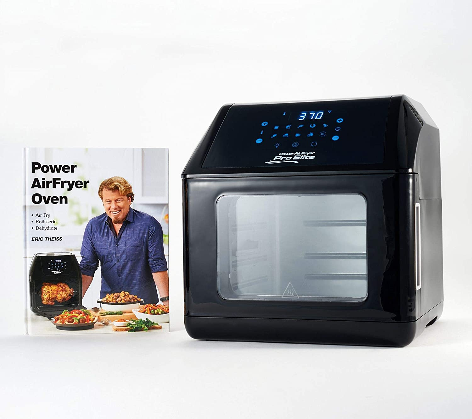 Power Air Fryer 10-in-1 Pro Elite Oven 6-qt with Cookbook