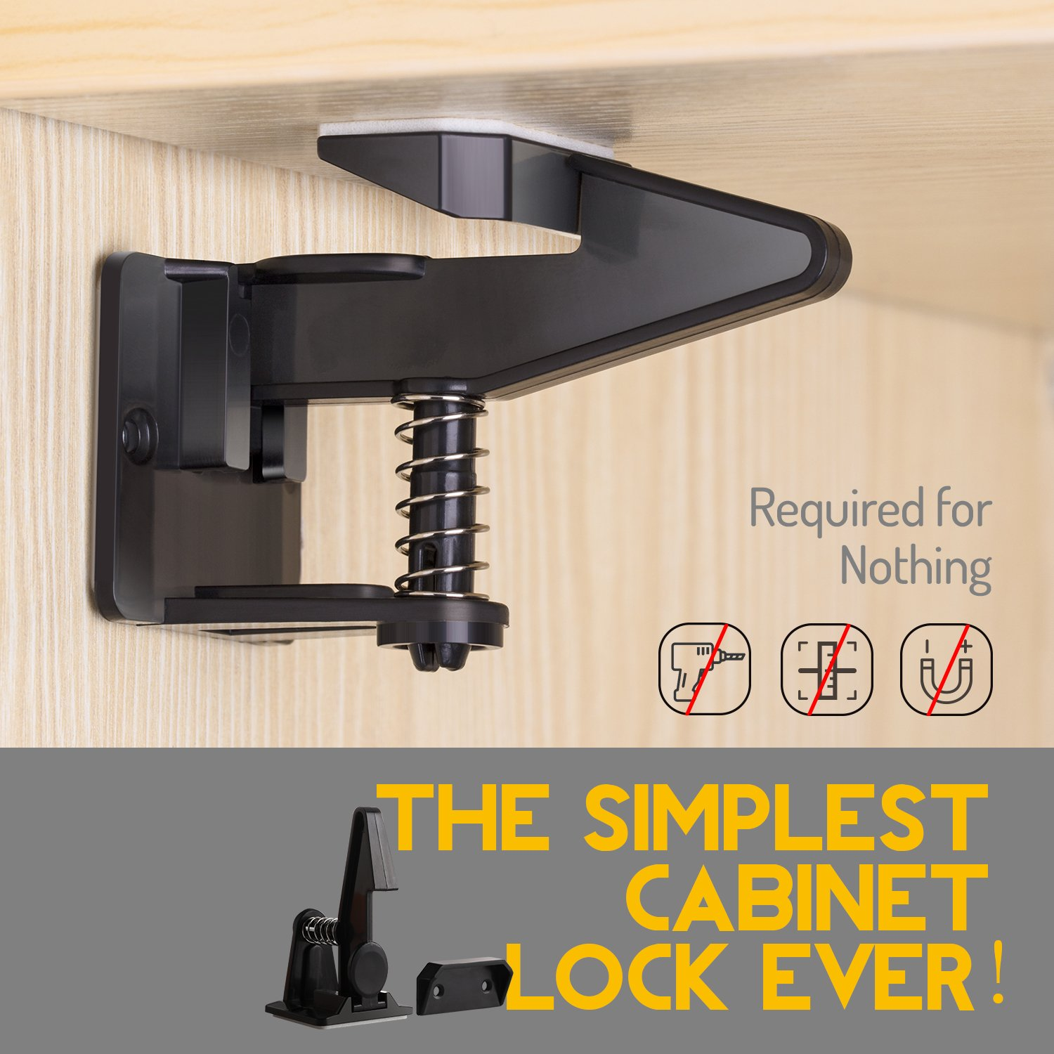 Cabinet Locks Child Safety Latches Locks