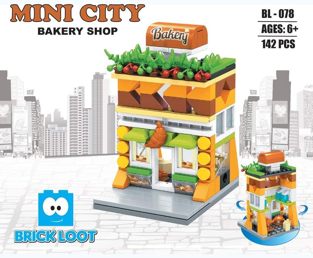 Bakery Shop Custom Design Bricks Compatible with All Major Brands Exclusive Mini City