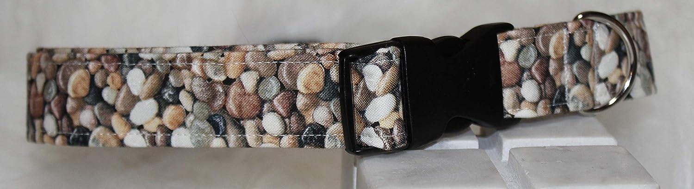 Handmade Pebble Dog Collar Med//Large Dog Neck up to 32