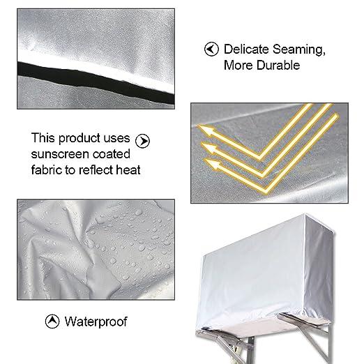 94 * 40 * 73cm Au/ßenklimaanlage Abdeckungs wasserdichter Klimaanlagen Staubschutz f/ür Haus
