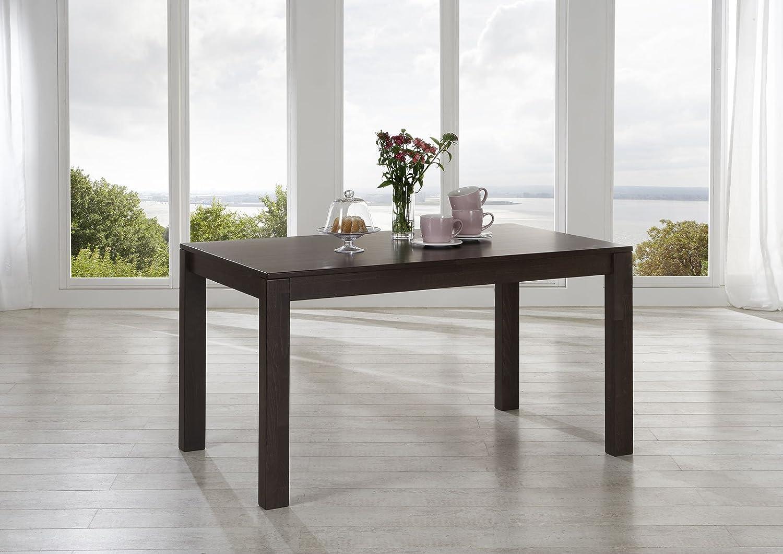 Mesa de comedor Wilma 130 x 70 cm Sam wengué resistente superficie ...