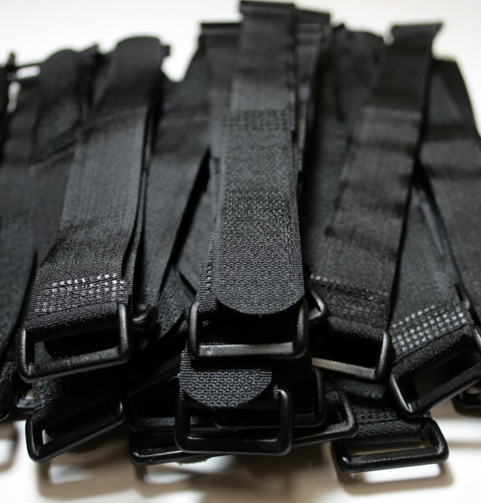 BlueDot 100 Pcs 8'' Black Self Adhesive Cable Ties 8-Inch self adhesive Cable Ties with Wire Cord Straps and Reusable Hook Loop