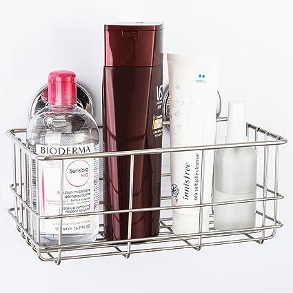 SANN Bathroom Shower Caddy Shelf Suction cup No Rust Stainless Steel ...