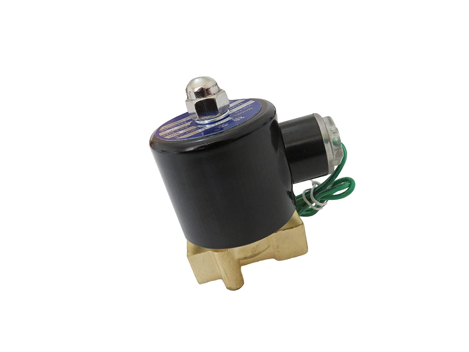 3//8 inch 24V AC VAC Brass Electric Solenoid Valve NPT Gas Water Air Normally Closed NC