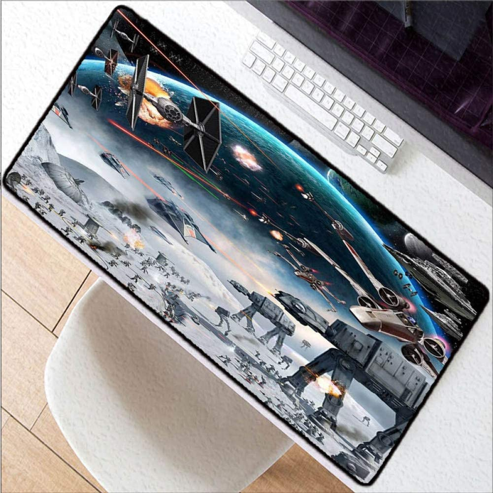 WHFDSBDScreen Natural Rubber Mouse Pad Office Home Carpet Keyboard Mat for Player Speed Version Gift 40X90