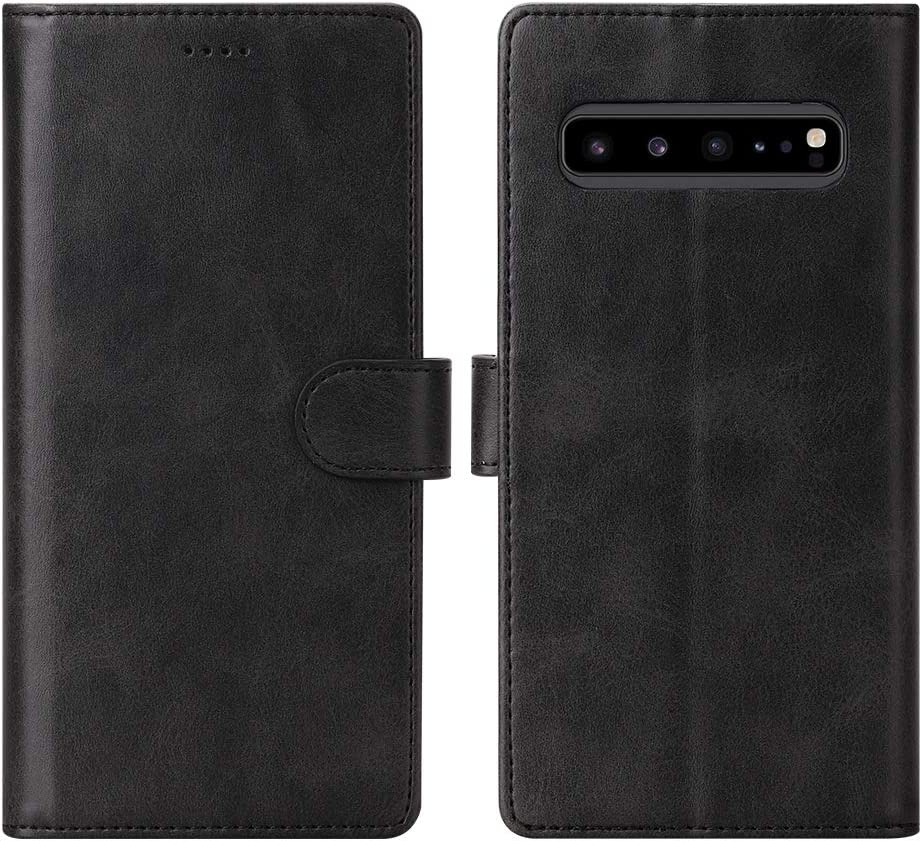 Black Kickstand TPU Inner Shell Magnetic Closure Leather Folio Flip Shockproof Protective Case for Samsung Galaxy S10 5G Smartphone Eastcoo Galaxy S10 5G Wallet Case with Card Holders