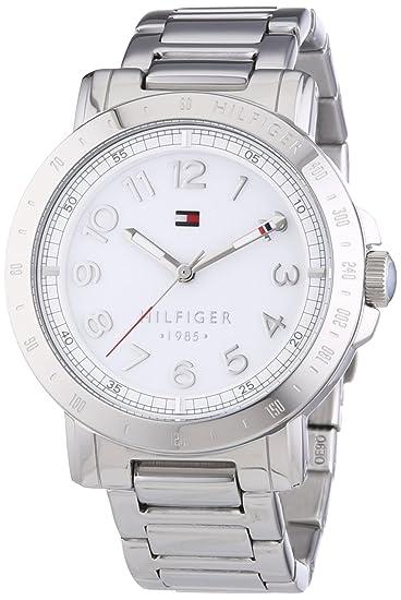 eb0ef19e6 Tommy Hilfiger Liv - Reloj de Cuarzo para Mujer, con Correa de Acero  Inoxidable, Color Plateado: Amazon.es: Relojes