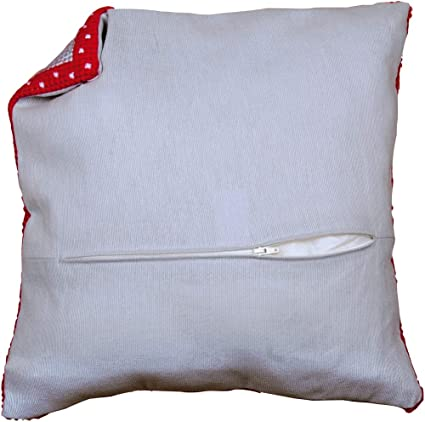 "Vervaco 18/"" Cushion Back with Zipper Finishing Kit for 16/"" Pillow Gray Grey"