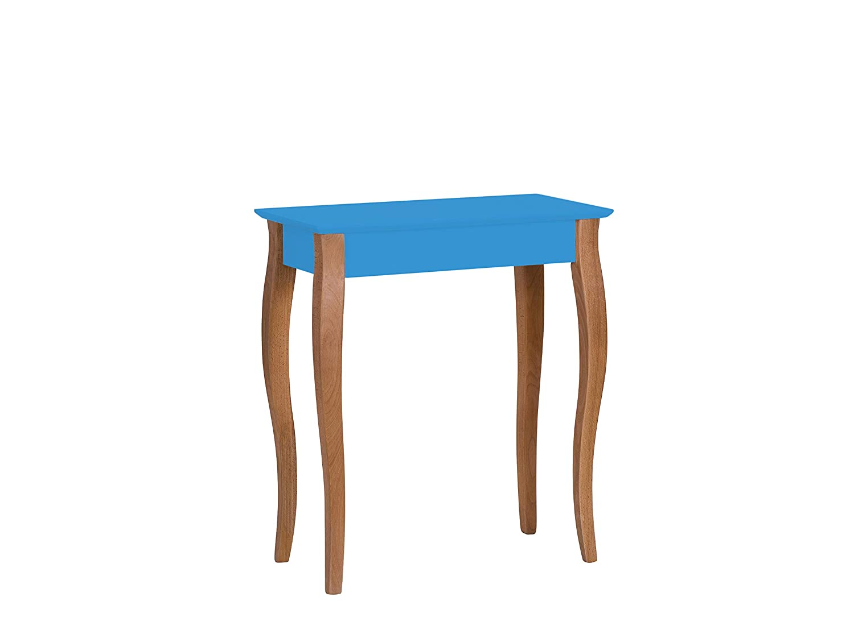 Ragaba LILLO Blau schmal Konsolentisch Wandtisch Sideboard Telefontisch aus Holz, 65 x 35 x 74cm, Skandinavisch Möbel für Flur, Wohnzimmer, Schlafzimmer - 12 Farben