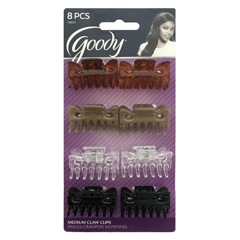Goody 8 Claw Clips Pinces Hebillas Model #76023