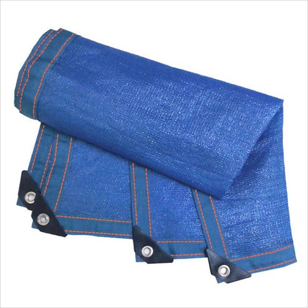 PENGFEI オーニング 日焼け止め スイミングプール シェーディングネット 暗号化 屋外 園芸 断熱 通気性のある カーポート、 複数のサイズ (色 : Blue, サイズ さいず : 6x6m) 6x6m Blue B07FS3ZSV4