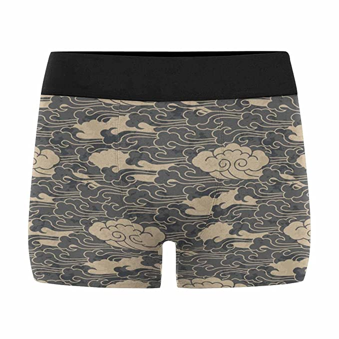 74545b0ec INTERESTPRINT Men s All-Over Print Boxer Briefs Traditional Cloud Chinese  Pattern Design XS