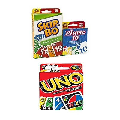 Mattel Card Game Set (Skip Bo, Uno & Phase 10): Toys & Games